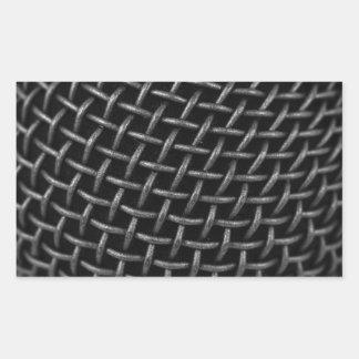 Microphone Grid Background Sticker