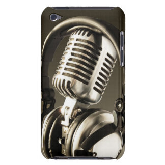 Microphone Headphone Case Cover Barely There iPod Case