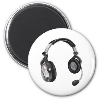 Microphone headset refrigerator magnets