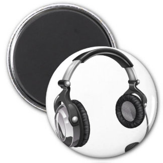 Microphone headset refrigerator magnet