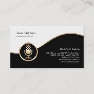 Voiceover artist business cards zazzle microphone icon voiceover artist business card colourmoves