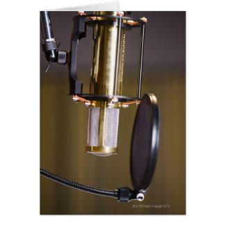 Microphone in Studio Card