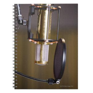 Microphone in Studio Notebook