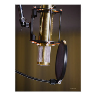 Microphone in Studio Poster