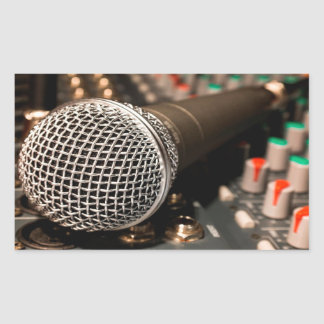 Microphone & Keyboard Rectangular Sticker