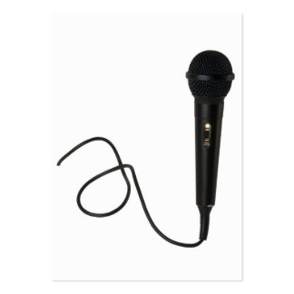 Microphone Large Business Cards (Pack Of 100)