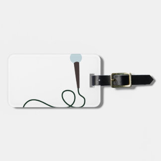 Microphone Luggage Tag
