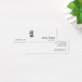 Microphone Mini Business Card