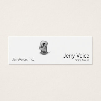 Microphone Mini Business Card