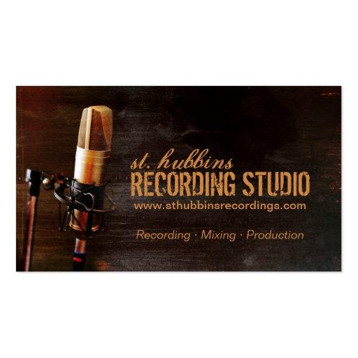 Microphone Music Studio Business Card