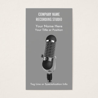 Microphone Music Studio or Entertainment Business Card