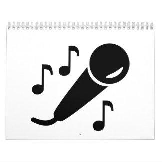 Microphone notes calendar