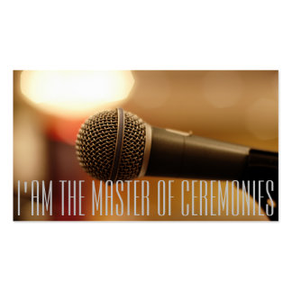Microphone of MC (Master of Ceremonies) Double-Sided Standard Business Cards (Pack Of 100)
