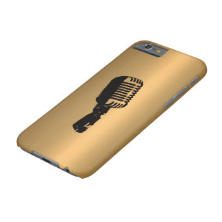 Microphone on Bronze Copper Effect Barely There iPhone 6 Case