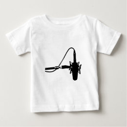 Microphone on Stand Baby T-Shirt