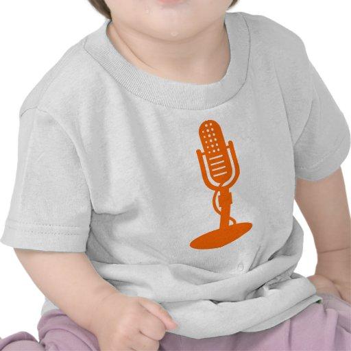 Microphone - Orange Tee Shirt