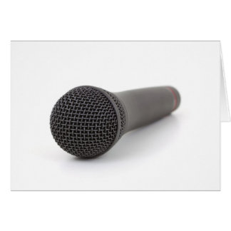 Microphone Photo Card
