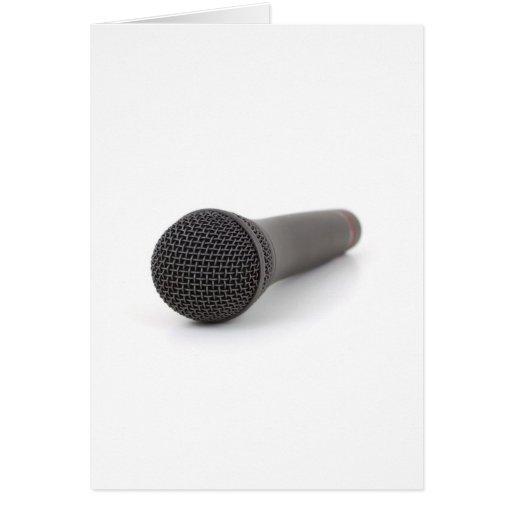 Microphone Photo Greeting Card