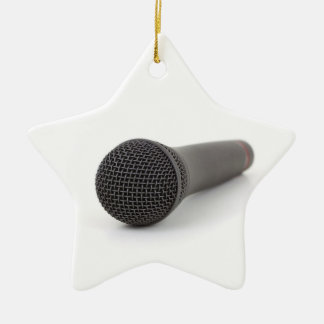 Microphone Photo Christmas Tree Ornaments