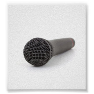 Microphone Photo Poster