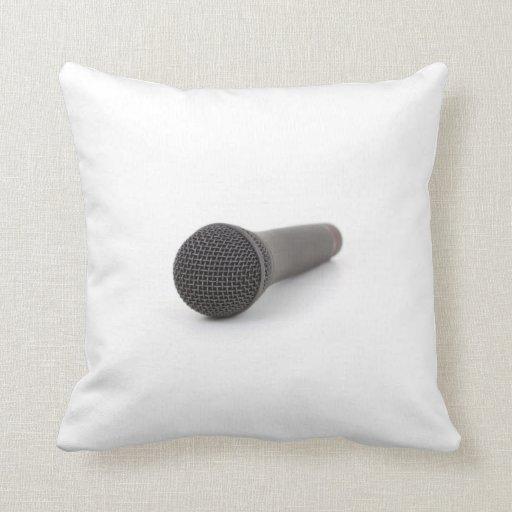 Microphone Photo Throw Pillows