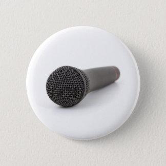 Microphone Pinback Button