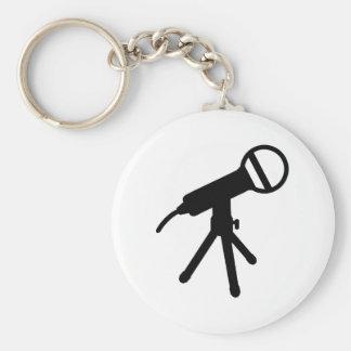 Microphone press keychain