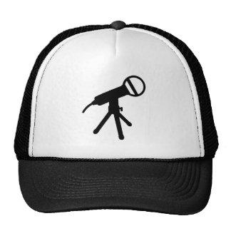 Microphone press trucker hat