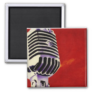 Microphone Print Magnet