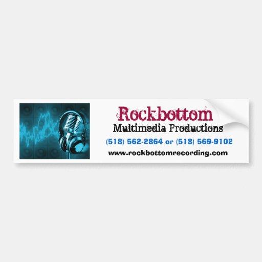 microphone, Rockbottom, Multimedia Productions,... Bumper Sticker
