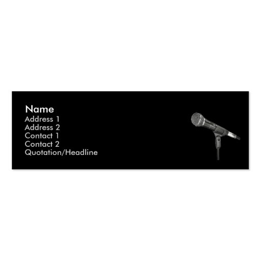 microphone round black skinny business card