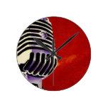 Microphone Round Clock