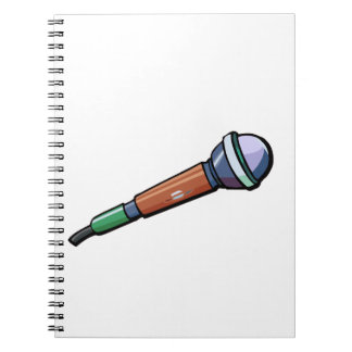 Microphone Simple Abstract facing right Notebook