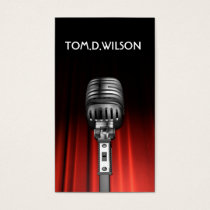 microphone singer music  Business card