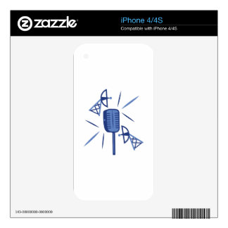 Microphone Decal For iPhone 4