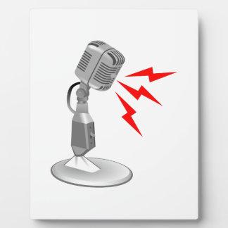 MICROPHONE SOUND PLAQUE