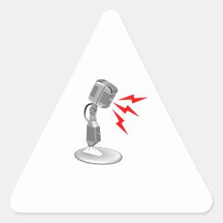 MICROPHONE SOUND TRIANGLE STICKER
