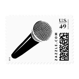 Microphone stamp for karoake music party or singer