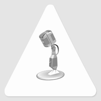 MICROPHONE TRIANGLE STICKER