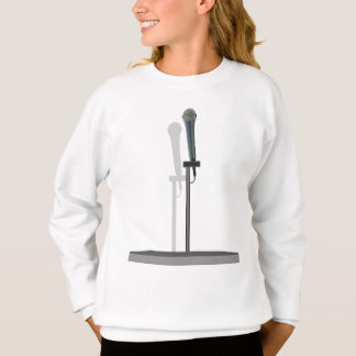 Microphone Sweatshirt with stand.