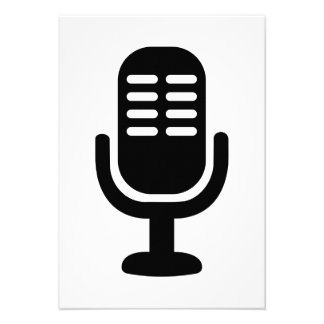 Microphone symbol custom announcement