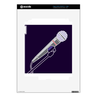 Microphone Vector Decals For iPad 2