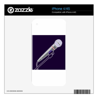 Microphone Vector Skin For The iPhone 4