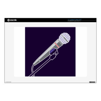 "Microphone Vector Skins For 15"" Laptops"