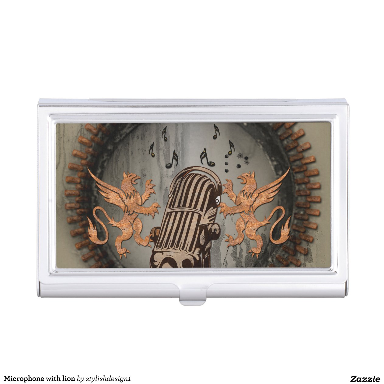 Spinning Business Card Holder Microphone With Lion Business Card Holder Rbfacdacedccfeac Zhvb