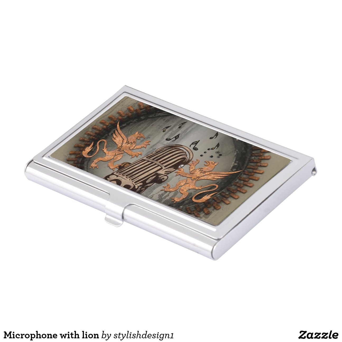 Spinning Business Card Holder Microphone With Lion Business Card Holder Rbfacdacedccfeac Zhvq