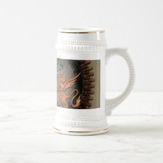 Microphone with lion 18 oz beer stein