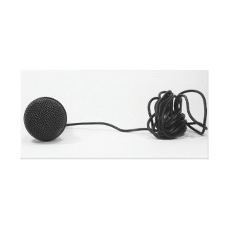 Microphone Wrapped Canvas