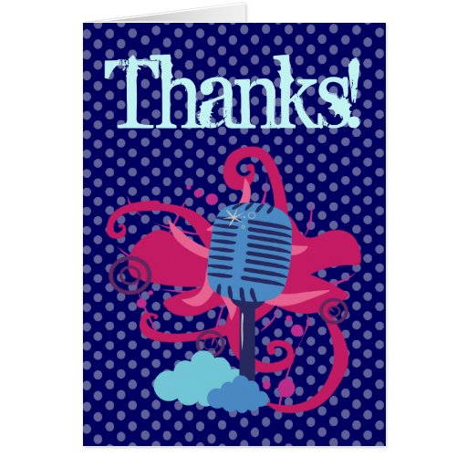 MicrophoneThank usted tarjetas