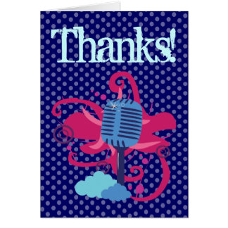 MicrophoneThank You Cards Note Card